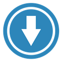 Arrow, Down SteelBlue icon