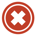 Clear, cancel, decline, remove, delete, Close, stop, Not, Empty, Exit, refuse, Bad Firebrick icon