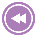 Left, Arrow, previous MediumPurple icon