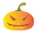 pumpkins, scary, halloween Black icon