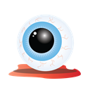 Bloody, scary, Eye, halloween Black icon
