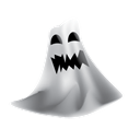 hauted, Ghost, halloween, scary Black icon