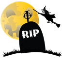 witch, hauted, grave, scary, halloween, Rip Black icon