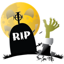 grave, scary, halloween, Hand Black icon