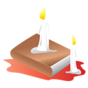 scary, Candle, Book, halloween Black icon
