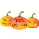 trick or treat, scary, halloween, trick, treat Black icon