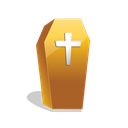 scary, coffin, halloween Black icon