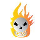 Bone, scary, Burning, halloween Black icon
