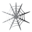 spider, halloween, web, scary Black icon