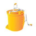 cleaning, Bucket, Foot, wringer, janitor Black icon