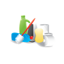 Materials, janitor, cleaning Black icon