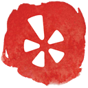 Yelp, review, Restaurant, network, Social Crimson icon