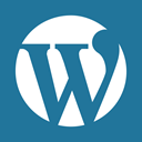 Wordpress, press, word, social media DarkCyan icon