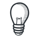 Energy, light, power, education, student, university, school, knowledge, Academic, learning, lightbulb, Idea, academy, teach, science, handdrawn, bulb, electricity, lamp, teaching Black icon