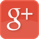 red, Google+, plus, social media, square Chocolate icon