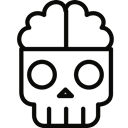 Dead, Brain Black icon