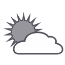 forecast, weather, Cloud, sun Black icon