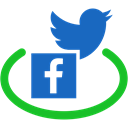 network, public, Social, twitter, Connection, Facebook, Communication Black icon