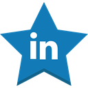star, Linkedin, socal, In, Favorite, Best, win DarkCyan icon