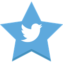 Favorite, socal, Best, Tw, bird, star, twitter, Like CornflowerBlue icon