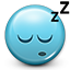 dreams, tired, smiley, Dreaming, Emoticon, Sleepy, Sleeping, smiley face SkyBlue icon
