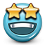 Stars, Dreaming, smiley face, star, Emoticon, smiley DarkSlateGray icon
