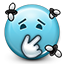 smelly, stinky, smiley, fly, Emoticon, smiley face, poop SkyBlue icon