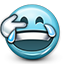 smiley face, crying laugh, funny, joy, tears, smiley, tears of joy, Emoticon, Crying DarkSlateGray icon