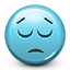 dissapointment, dissapointed, smiley, Emoticon, smiley face, sad, eyes closed MediumTurquoise icon