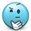 smiley, think, shrugging, Emoticon, smiley face, not sure, Confused, shrug SkyBlue icon