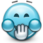 lol, laughing, joke, joking, laugh, smiley, Emoticon, smiley face SkyBlue icon