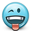 Emoticon, tongue, flirty, toungue out, joke, smiley, smiley face DarkSlateGray icon