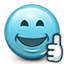 smiley face, thumbs up, Like, Emoticon, smiley, thumbs SkyBlue icon