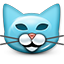 Cat, kitty, smiley, smiley face, Emoticon SkyBlue icon