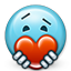 valentine's day, Heart, love, smiley, Emoticon, smiley face, valentine, give love SkyBlue icon