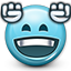 Emoticon, smiley face, party, win, smiley, Dance, Dancing, happy DarkSlateGray icon