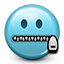 secret, smiley, mouth closed, Emoticon, smiley face SkyBlue icon