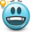 Emoticon, smiley face, eurica, Idea, smiley, Genius DarkSlateGray icon