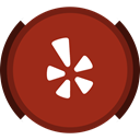 Yelp, review, Social Brown icon