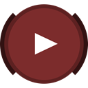 Social, Browse, youtube, video, Buffer SaddleBrown icon