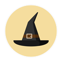hat, witch PaleGoldenrod icon