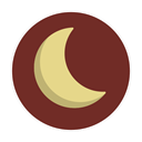 Moon, half SaddleBrown icon