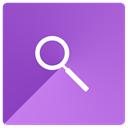 Find, search, magnifying glass, look MediumOrchid icon