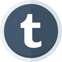 Tumblr, social media, Blogging, tumblr logo DarkSlateGray icon