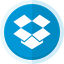 dropbox logo, file storage, upload, dropbox, Cloud storage, file transfer DodgerBlue icon