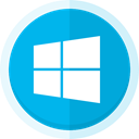 mircrosoft, Computers, windows logo, windows, windows 8 DeepSkyBlue icon