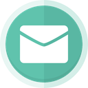 Email, send receive, email logo MediumAquamarine icon