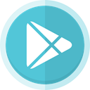 App store, google play logo, play, google, Android store MediumTurquoise icon