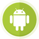 Mobile, mobile phone, android logo, Android YellowGreen icon
