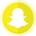 Snapchat, snapchat logo, Conversation, messaging app Gold icon